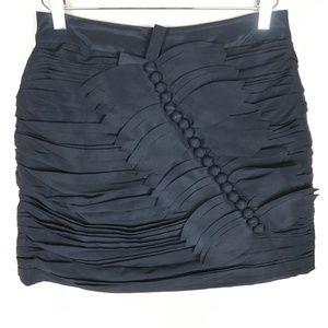 TWELVE BY TWELVE | Black Lined Ruched Skirt Size M